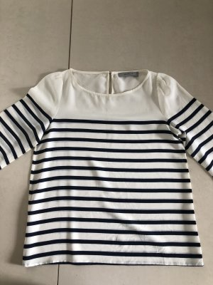 Marella Boatneck Shirt natural white-dark blue