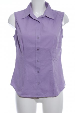Seidensticker ärmellose Bluse lila Business-Look