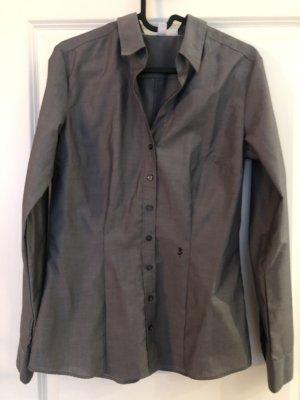 Seidensticker Bluse grau / silber - Gr.36 - wie neu kaum getragen