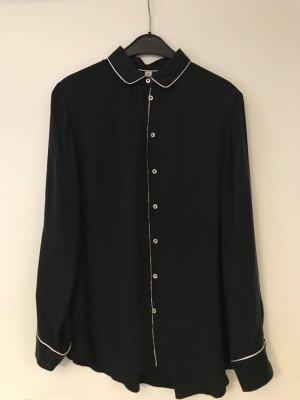 Seidensticker Bluse schwarz/weiß Gr. 36