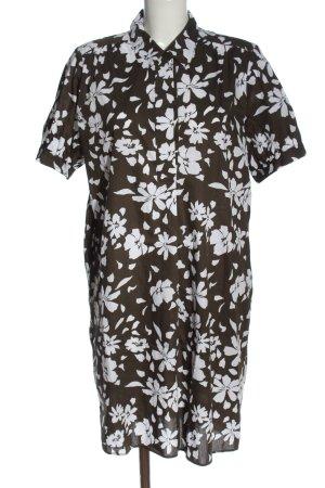 Seidensticker Blusenkleid khaki-weiß Allover-Druck Casual-Look