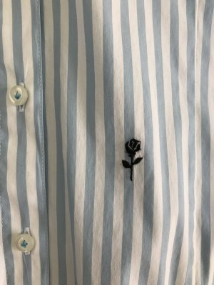 Seidensticker Bodybluse // hellblau weiß gestreift // NEU // Gr. 42