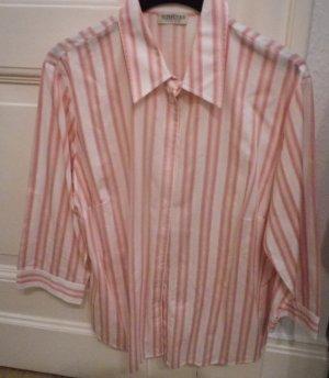 Seidensticker gestreifte 3/4 Arm Bluse, Gr. 46, pink weiß