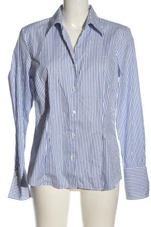 Seidensticker Hemd-Bluse blau-weiß Streifenmuster Business-Look