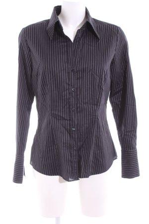 Seidensticker Hemd-Bluse schwarz Streifenmuster Business-Look
