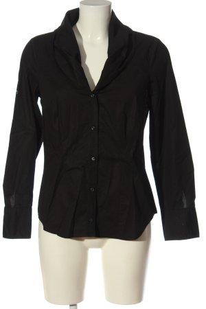 Seidensticker Blusa-camisa negro elegante