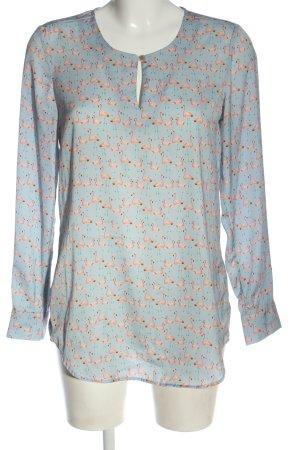 Seidensticker Hemd-Bluse blau-pink Allover-Druck Casual-Look