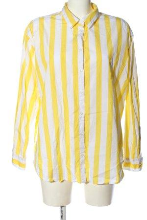 Seidensticker Hemd-Bluse weiß-blassgelb Streifenmuster Casual-Look