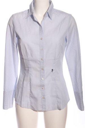Seidensticker Hemd-Bluse weiß Streifenmuster Business-Look