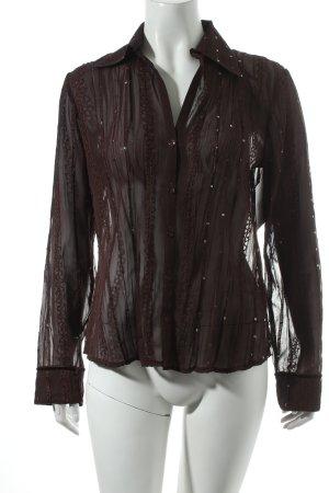 Seidensticker Hemd-Bluse braun Transparenz-Optik