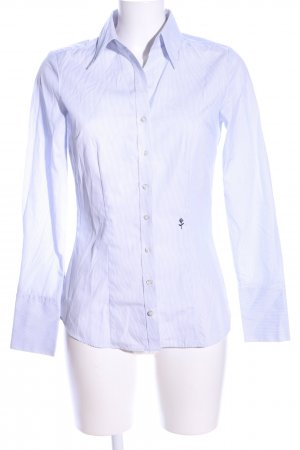 Seidensticker Hemd-Bluse weiß-blau Streifenmuster Business-Look