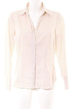 Seidensticker Blusa-camisa crema-blanco estampado a rayas estilo «business»