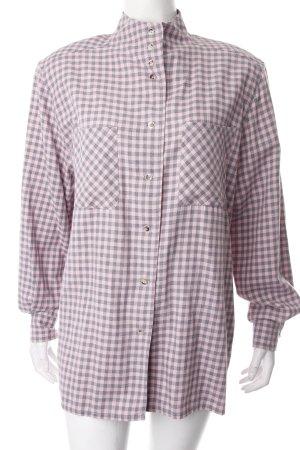 Seidensticker Hemd-Bluse rosa-grau Karomuster