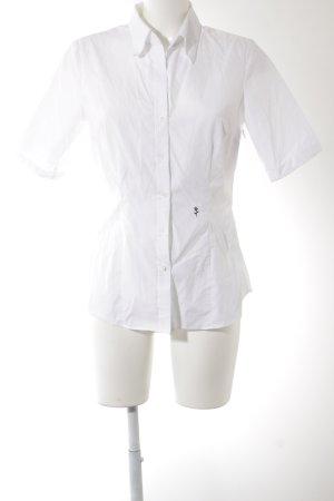Seidensticker Hemd-Bluse weiß-schwarz Business-Look