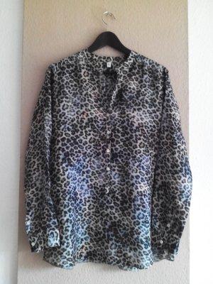 Seidensticker Hemdbluse in Animalprint aus 100% Seide, Größe 40