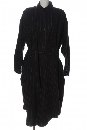 Seidensticker Koszulowa sukienka czarny-jasnoszary Wzór w paski W stylu casual