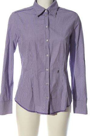 Seidensticker Camisa de leñador lila-blanco estilo «business»