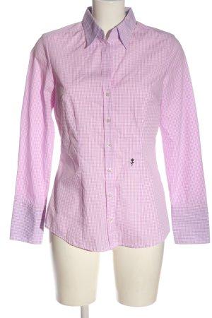 Seidensticker Holzfällerhemd pink-weiß Allover-Druck Casual-Look