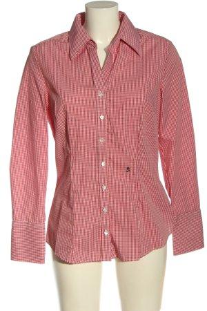 Seidensticker Camisa de leñador rojo-blanco look casual