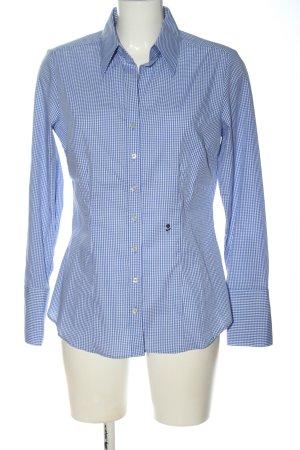 Seidensticker Camicia da boscaiolo blu-bianco stampa integrale stile casual