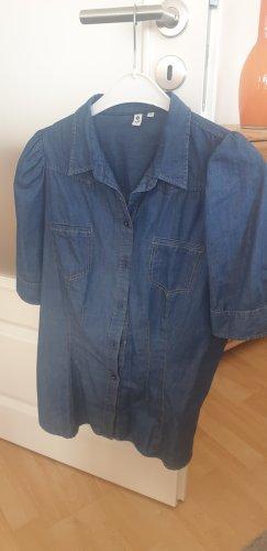 Seidensticker Jeansbluse kurzärmlig blau