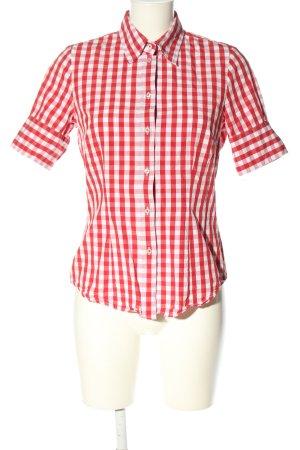Seidensticker Blusa a cuadros rojo-blanco estampado a rayas look casual