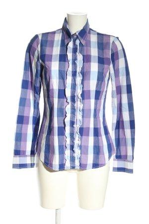 Seidensticker Camicia a scacchi blu-bianco motivo a quadri stile casual
