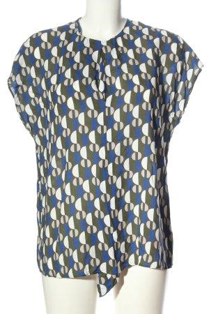 Seidensticker Kurzarm-Bluse abstraktes Muster Elegant