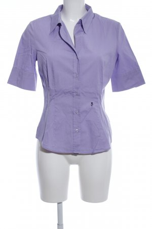 Seidensticker Kurzarm-Bluse lila Business-Look