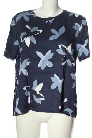 Seidensticker Blusa de manga corta azul-blanco look casual
