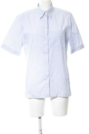 Seidensticker Camisa de manga corta azul-blanco estampado a rayas