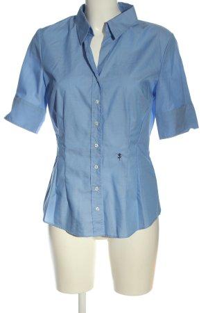 Seidensticker Camisa de manga corta azul elegante