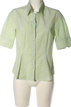 Seidensticker Kurzarmhemd grün-weiß Streifenmuster Casual-Look