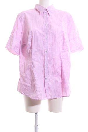 Seidensticker Shirt met korte mouwen roze gestreept patroon zakelijke stijl