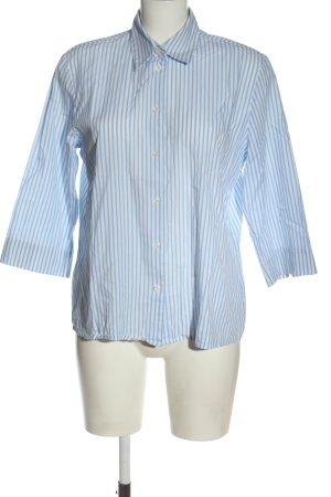 Seidensticker Shirt met korte mouwen blauw-wit gestreept patroon