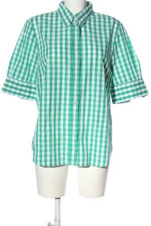 Seidensticker Kurzarmhemd grün-weiß Karomuster Casual-Look