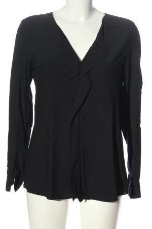 Seidensticker Blusa de manga larga negro look casual