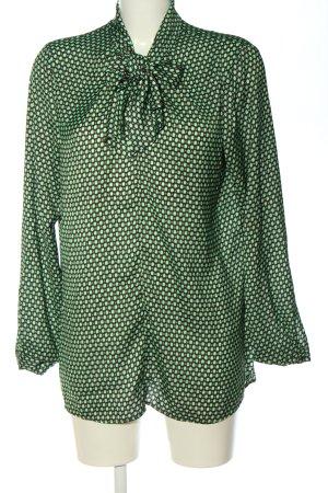 Seidensticker Langarm-Bluse grün-schwarz Allover-Druck Elegant