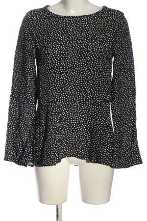 Seidensticker Langarm-Bluse schwarz-weiß Allover-Druck Business-Look