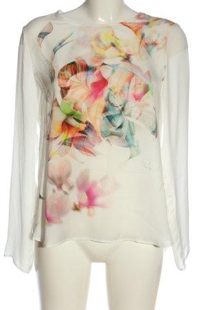Seidensticker Langarm-Bluse weiß Blumenmuster Casual-Look