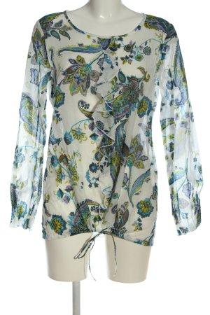 Seidensticker Langarm-Bluse abstraktes Muster Casual-Look