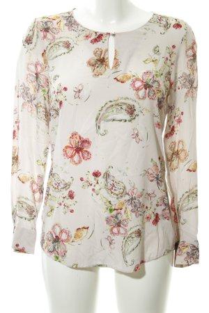 Seidensticker Langarm-Bluse Blumenmuster Casual-Look