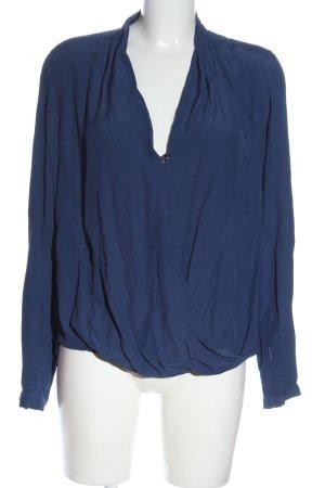 Seidensticker Langarm-Bluse blau Casual-Look