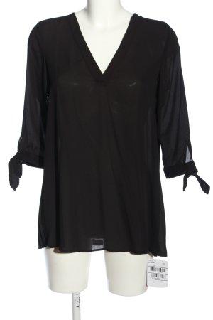 Seidensticker Langarm-Bluse schwarz Casual-Look