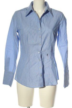 Seidensticker Camisa de manga larga azul-blanco estampado a rayas