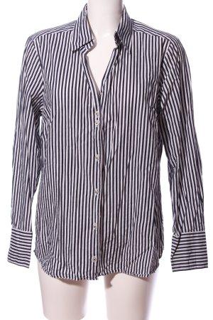 Seidensticker Langarmhemd weiß-schwarz Streifenmuster Casual-Look