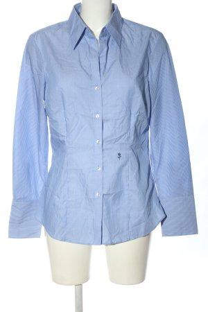 Seidensticker Langarmhemd blau-weiß Allover-Druck Business-Look