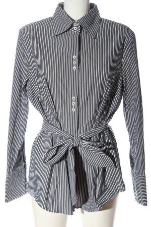 Seidensticker Camisa de manga larga gris claro-blanco look casual