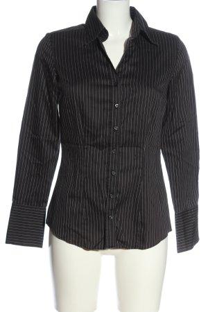 Seidensticker Langarmhemd schwarz Streifenmuster Business-Look