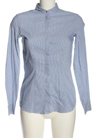 Seidensticker Langarmhemd blau-weiß Punktemuster Casual-Look